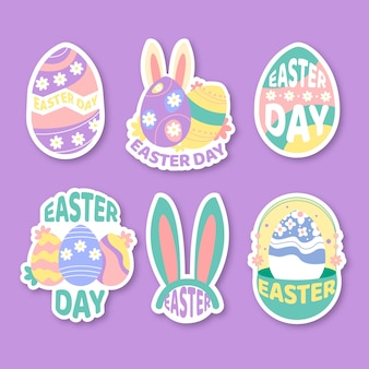 Easter day label collection