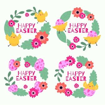Easter day label set
