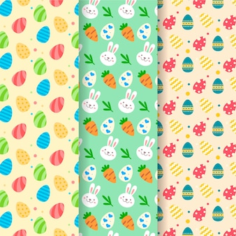 Easter day pattern collection concept
