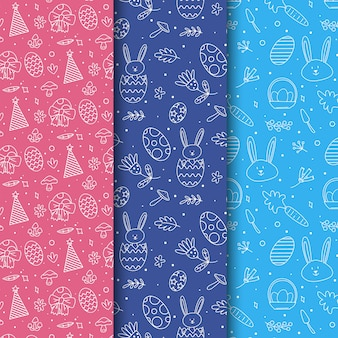 Easter day pattern collection design