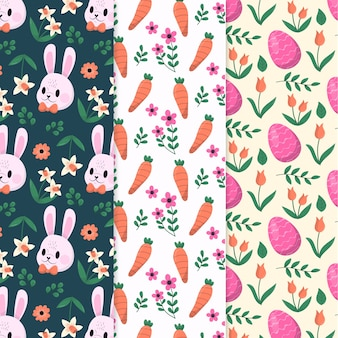 Easter day pattern collection in hand drawn