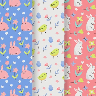 Easter day pattern collection with bunny