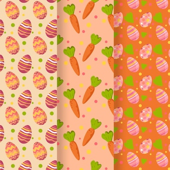 Easter day pattern flat design collection