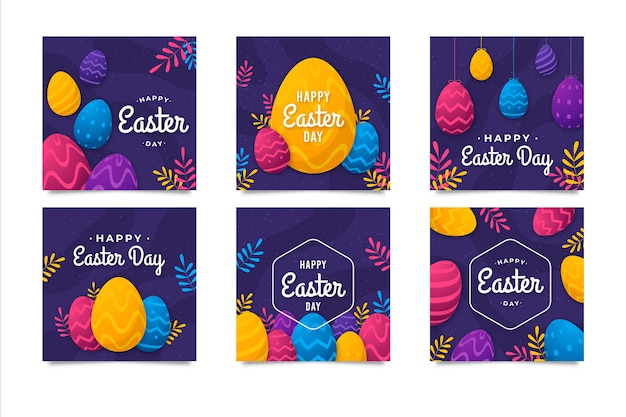 Easter day post collection for instagram