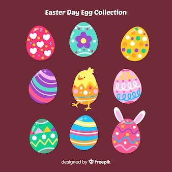 Easter day printed egg collection