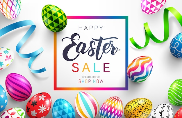 Easter day sale banner