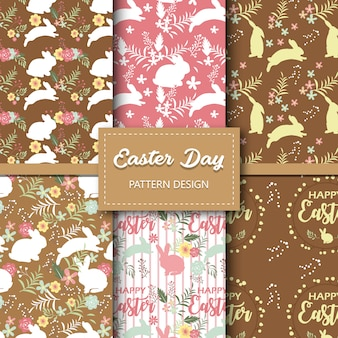 Easter day seamless pattern collection