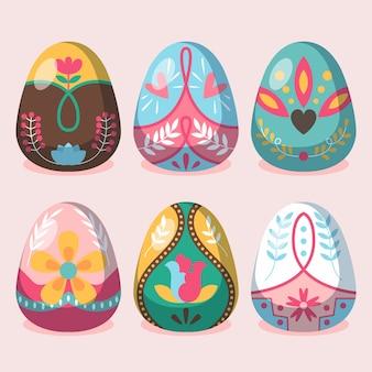 卵コレクションのイースターの日のテーマ