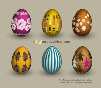Easter decorated eggs vector