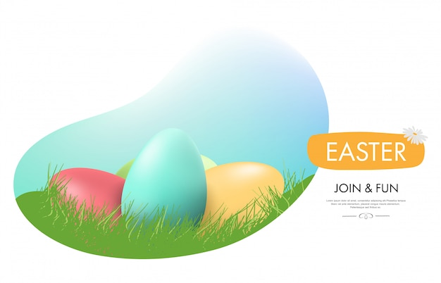 Easter egg holiday landing page.