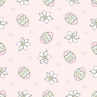 Easter egg holy holiday seamless pattern vector illustration
