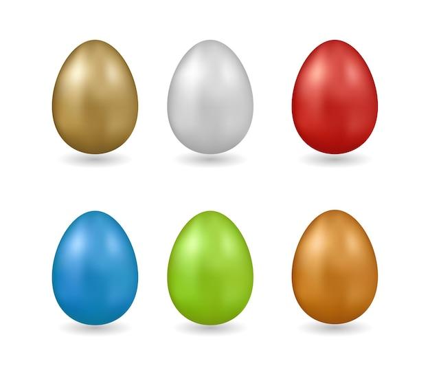 부활절 달걀 흰색 배경에 고립