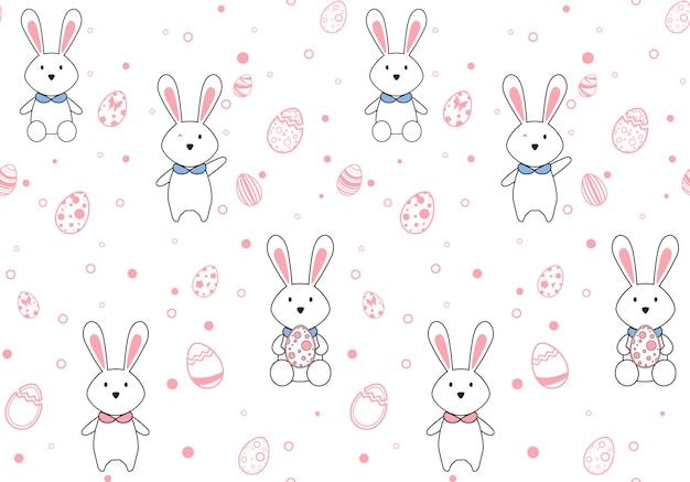 Easter egg seamless pattern.