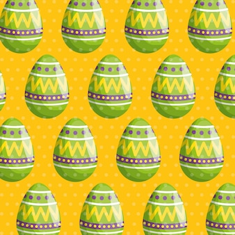 Easter egg with figures decoration pattern