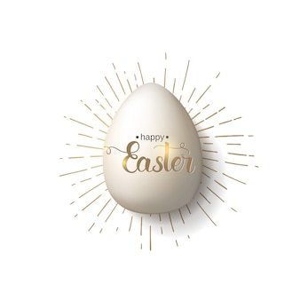 Easter egg with hand made trendy lettering