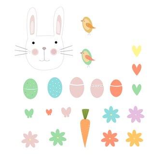 부활절 달걀과 동물