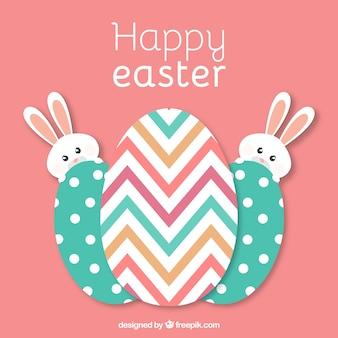부활절 달걀과 토끼