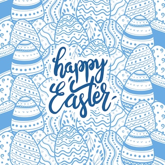 Easter eggs background template with framing and copy space