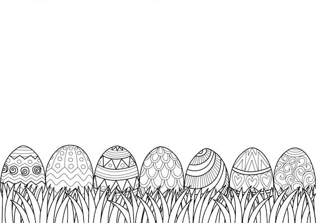 Пасхальные яйца трава