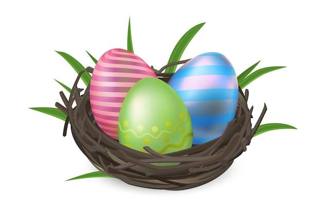 고립 된 둥지에서 부활절 달걀