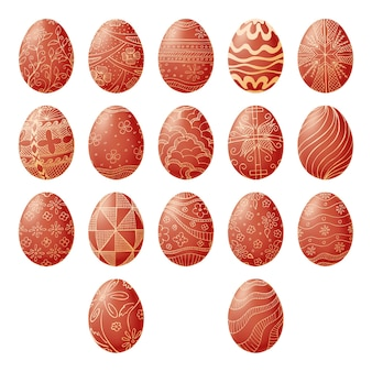 Easter eggs isolated on white background. hand draw an easter symbol.  illustration of a sketch style.