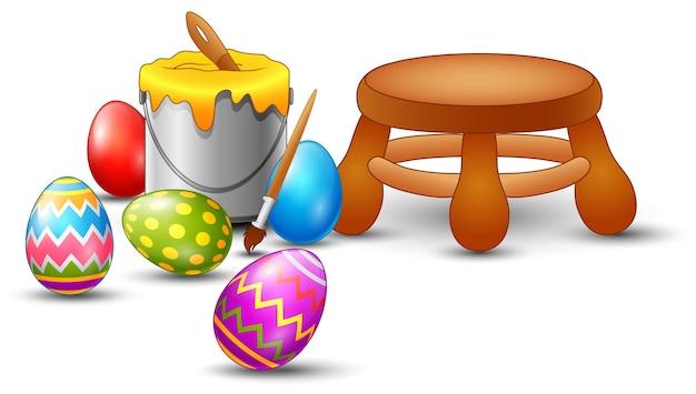 부활절 달걀 그림 세트
