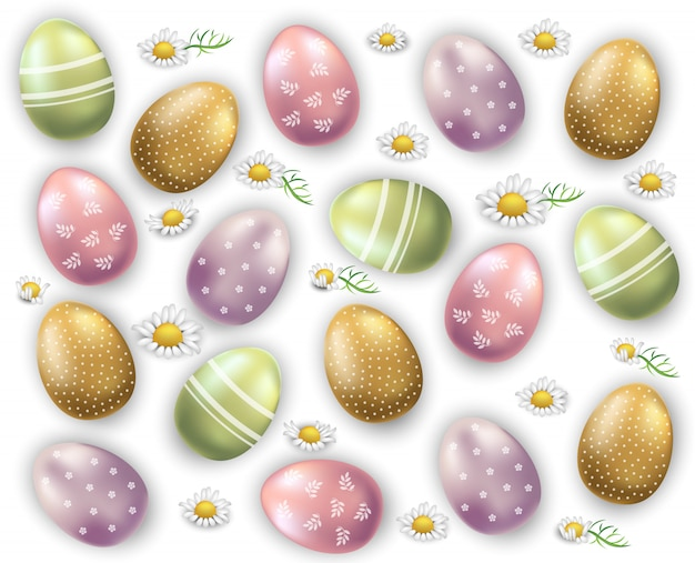 Easter eggs pattern background