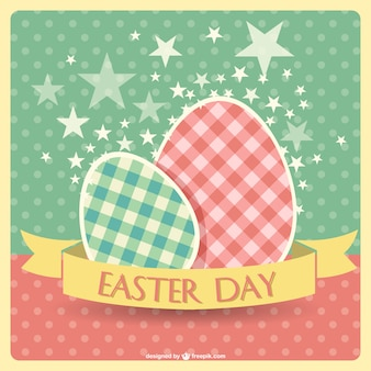 Easter eggs retro design