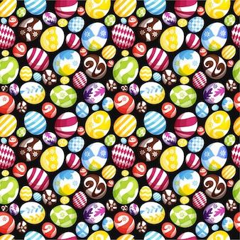Пасхальные яйца бесшовный фон фон для печати, обоев или ткани premium векторы