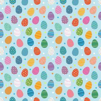 Пасхальные яйца бесшовные модели. концепция дизайна пасхальных яиц на пасхальные каникулы