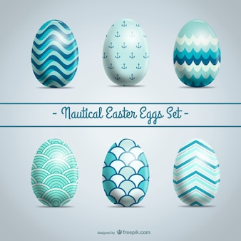 Easter eggs set abstract design