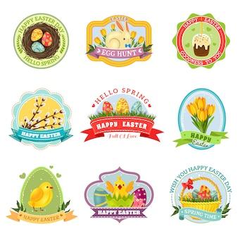 Easter emblem set