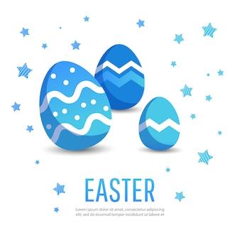 다채로운 계란 부활절 기하학적 배경입니다.