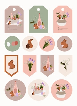 Easter gift tags and stickers.