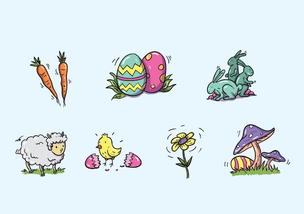 Easter handdrawn icon