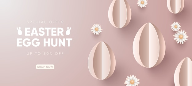Easter holiday sale background