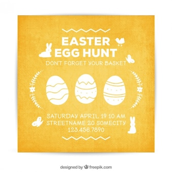 Egg hunt vectors photos and psd files free download easter invitation card maxwellsz