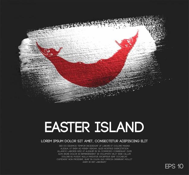 Флаг острова пасхи, сделанный из блестки