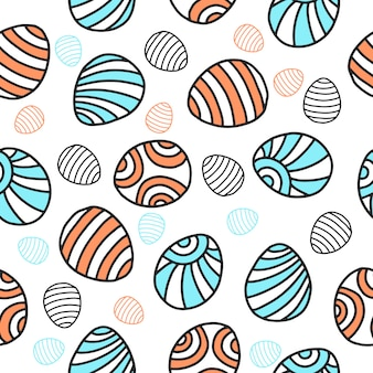 Easter pattern with egg, vector illustration