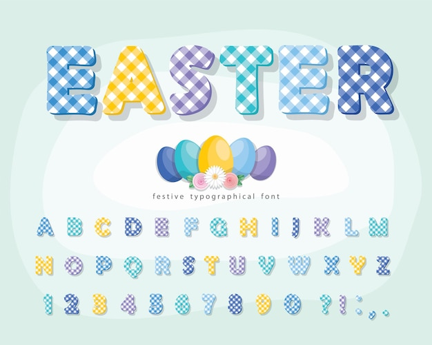 Easter plaid font