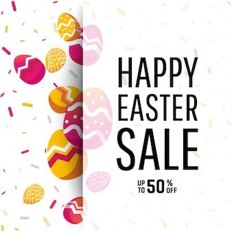 Easter sale banner background