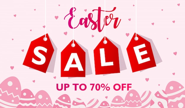 Easter sale banner design template. up to x percent