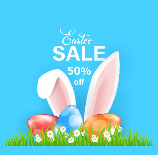 Easter sale banner design.