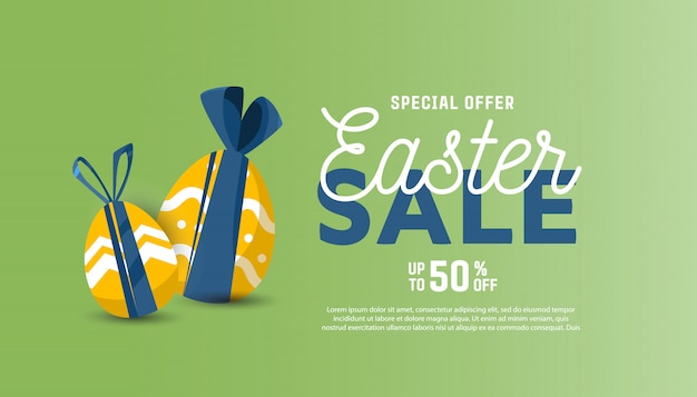 Easter sale banner with place for text.