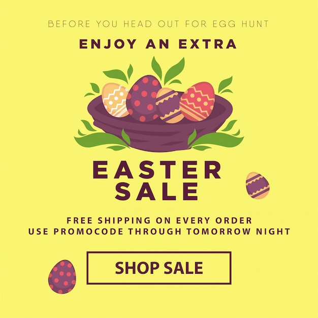 Easter sale conceptual banner