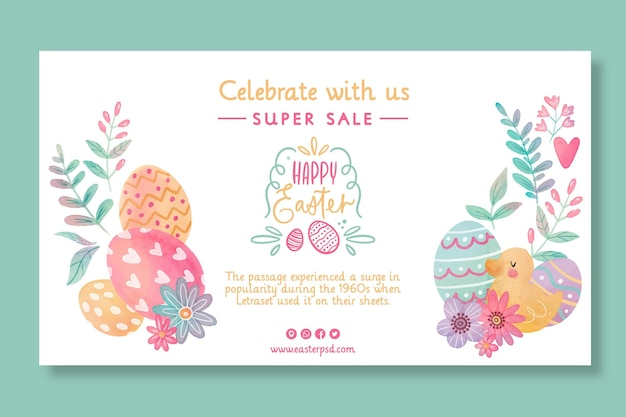 Easter sale horizontal banner