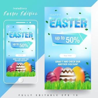 Easter sale instagram story template