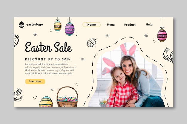 Easter sale landing page template