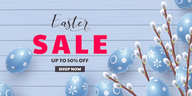 Easter sale offer. template for easter holidays discounts.