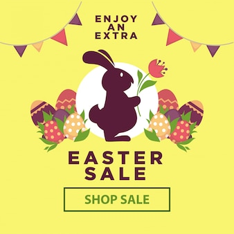 Easter sale poster for online shopping